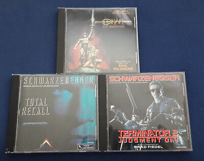 Total Recall, Conan the Barbarian, Terminator 2 Original Soundtrack CD Lot