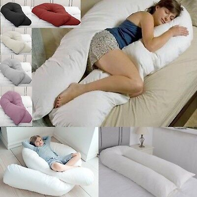 12 FT Long C_U Shaped Full Body Cuddle Maternity Pregnancy Support Pillow, Cover