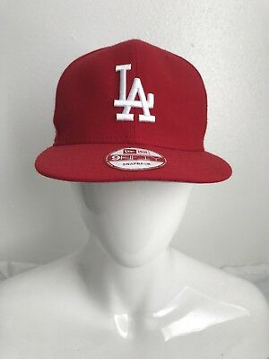 new products 56237 9a113 New Era 9Fifty Snapback Hat Cap Mlb Los Angeles Dodgers Red