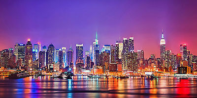 New-York-City Night- CANVAS OR PRINT WALL ART
