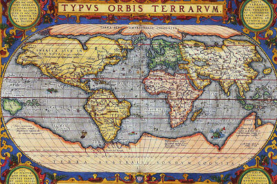 Old World Map - CANVAS OR PRINT WALL ART