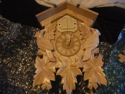 new cuckoo clock black forest quartz german wood batterie house style handmade
