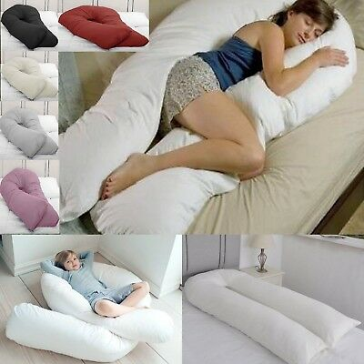 12 FT Long C_U Shaped Long Cuddle Maternity Pregnancy Support Pillow, Cover