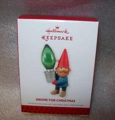 2013 Hallmark Keepsake Christmas Tree Ornament Gnome For Christmas New In Box