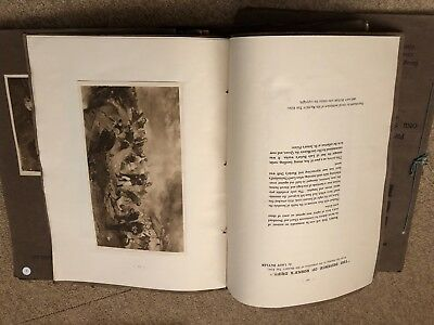 Vintage Antique Collection of 14 'The Hundred Best Pictures' Charles Letts & Co