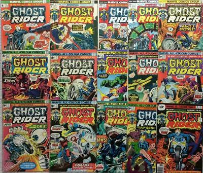 Ghost Rider #4 - #18 unbroken run (1974 1st series) 15 classic issues 42 yrs old