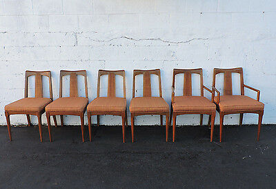 Mid Century Modern Set of Six Dining Room Chairs 7444