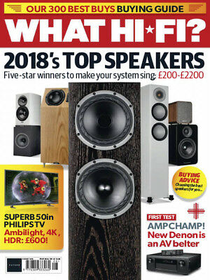 WHAT HI FI? MAGAZINE AUGUST 2018 (2018's TOP SPEAKERS) NEW   FAST POST