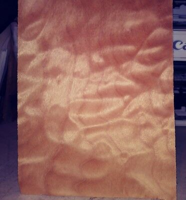 """1 buckled piece quilted maple wood veneer 19"""" x 5"""" pillow luthier"""