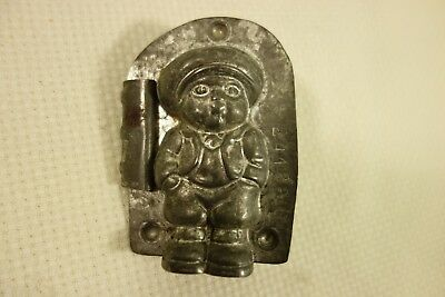 Vintage Metal Chocolate Mold Little Boy Anton Reiche Dresden