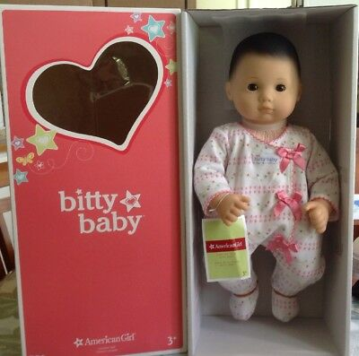 american girl bitty baby brown hair eyes brand new w box extra