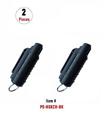 2 Pcs Black Police Magnum .5oz Injection Molded Key Chain Pepper Spray
