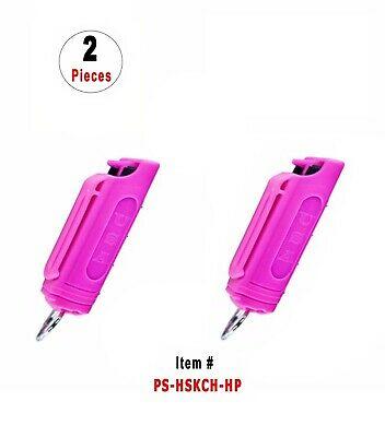 2 Pcs *Hot-Pink* Police Magnum .5oz Injection Molded Key Chain Pepper Spray