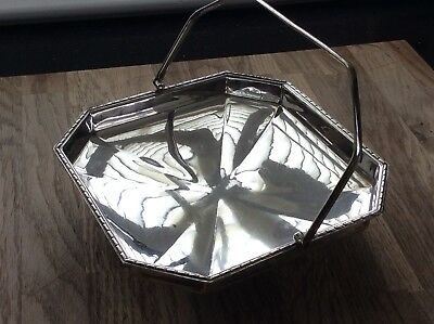 Antique Silver Plated Bon-bon Tray. Walker And Hall Of Sheffield.