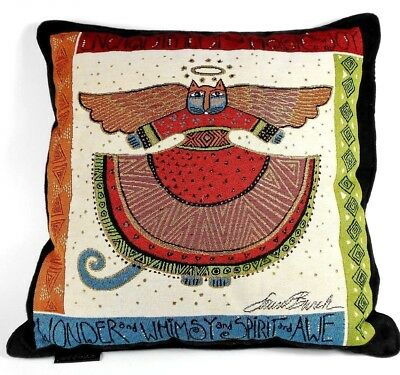 Laurel Burch Angel Cat Angelicat Square Decorative Tapestry Embroid Throw Pillow