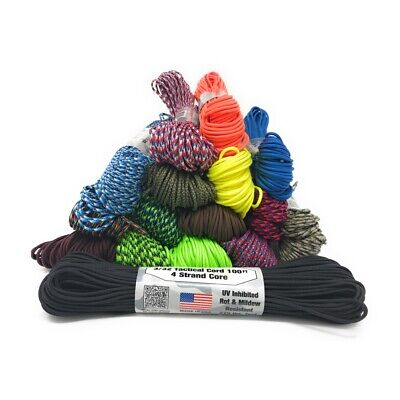 "Atwood Rope 275 Tactical Cord Paracord 3/32"" X 100' USA Made 275lb Test"