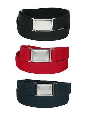 New CTM Kids' Elastic Stretch Belt with Magnetic Buckle (Pack of 3)