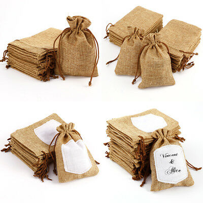 10/20pcs Mini Hessian Burlap Favor Sake Wedding Favors Rustic Burlap Bag
