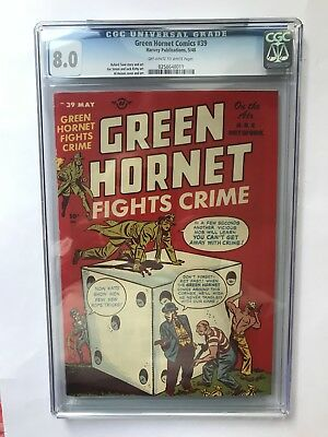 Green Hornet #39 (May/48, Marvel) CGC 8.0 Off-white to white pages.
