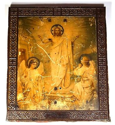 RUSSIAN ICON ANTIQUE ORIGINAL 19th XIX CENTURY ORTHODOX ANTIQUE OLD JAKO MOSCOW