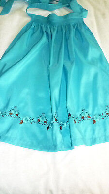 New, Girls Turquoise German Dirndl Apron, Size Child 152