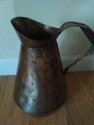 Copper Plated Farmhouse Water Pitcher