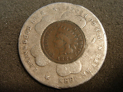 1884 Indian Head Cent Good Luck Lucky Penny The Royal Tailors Chicago