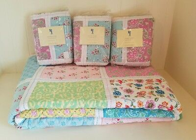 NEW Pottery Barn Kids Chloe Patchwork Twin Quilt & Shams - So Colorful & Cute!!!