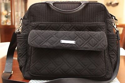 Vera Bradley quilted black diaper bag