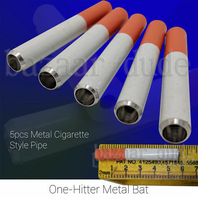 5X Metal Bat Cigarette Style Pipe | One Hitter Dugout | US SELLER