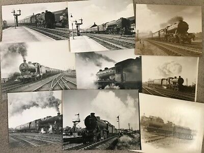 Large Lot of Antique railroad photo Photographs Steam Locomotive from Europe #4