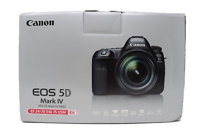 Canon EOS 5D Mark IV 30.4MP Digital SLR Camera w/ EF 24-70mm f/4L Lens Kit NEW