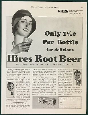 1931 HIRES ROOT BEER EXTRACT Large Original Advertisement. Free Sample Offer