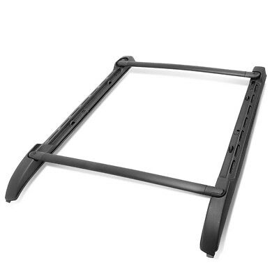 Fit 05-18 Toyota Tacoma Double Cab (Crew) ABS OE Style Roof Side Rail Cross Bar