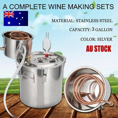 HOT 3 Gal Stainless Steel Alcohol Essential Oil Water Distiller Moonshine kit