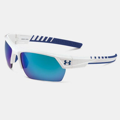 5b8bd4424a Under Armour Igniter 2.0 Sunglasses Shiny White Frame   Blue Mirror Lens  18264