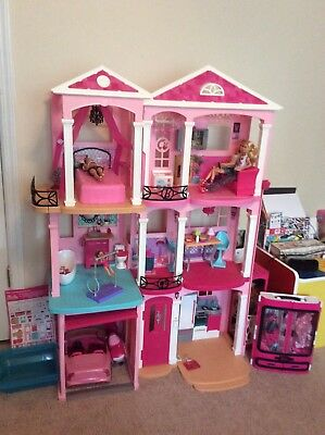 BARBIE DREAM HOUSE Doll house 3 Story Furniture 70+ Accessories Gift