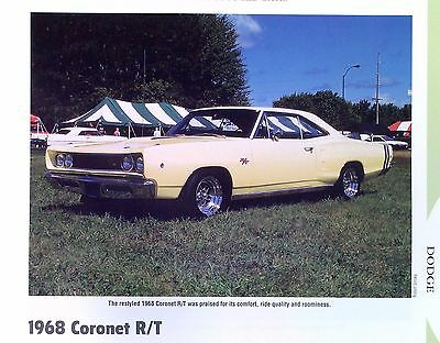 1968 Dodge Coronet R/T 440 ci Magnum and 426 Hemi Info/Specs/photo/prices 11x8