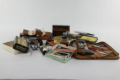 Job Lot of Vintage Gents Grooming Mixed Designs Inc. Brushes & Razors etc