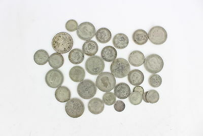 Lot of Vintage Pre 1947 GEORGE V&VI Mixed Denomination Silver Coins - 208g