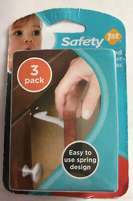 Safety 1st 48447 Spring Loaded Cabinet & Drawer Latches, 3pk, - FREE SHIPPING