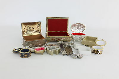 Job Lot of Vintage Trinket/Pill Boxes Mixed Designs, Styles & Sizes