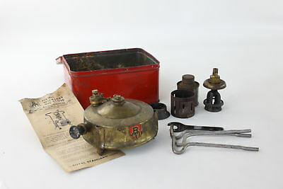 Vintage R.M MFG Camping / Picnic BRASS Oil Stove UNTESTED