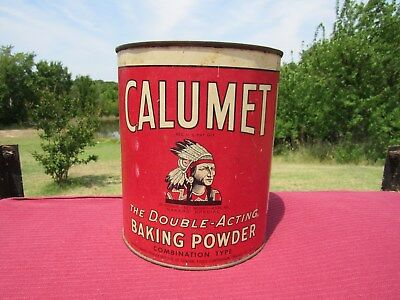 Vintage Calumet Baking Powder Tin 10 lbs. All tin Great paint with the right lid