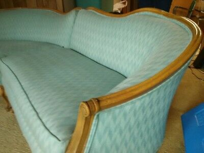 VINTAGE MID 1950'S FRENCH PROVINCIAL 3 PIECE SOFA SECTIONAL paramount of sturgis