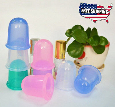 1pc Silicone Body Massage Helper Anti Cellulite Vacuum Therapy Cupping Cups