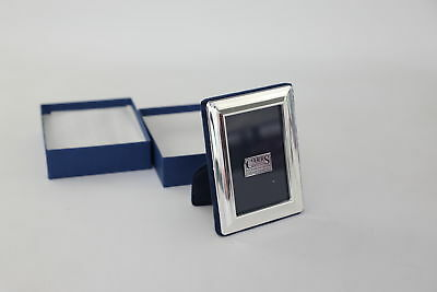 R. CARR Stamped .925 Sheffield Silver Photo Frame in Box 139g 9x11.8cm