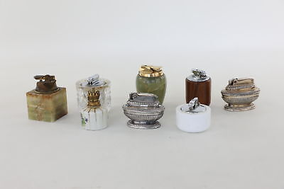Lot of 8 x Vintage Table Lighters Mixed Designs Inc. Ronson & Colibri UNTESTED