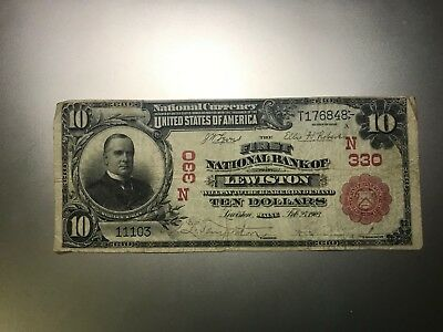 Lewiston, Maine Red Seal National Bank Note. Charter 350