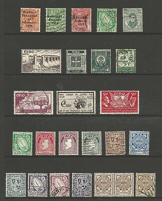 Ireland Stamp Collection Lot 1 - #16 // #116 - 25 MNH, MH & Used - CV $51.05